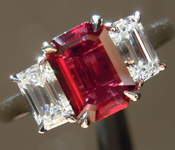 1.08ct Emerald Cut Ruby Ring R7931