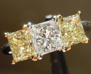 SOLD.........Diamond Ring: .75ct D SI1 Princess Cut Three Stone Diamond Ring GIA R809