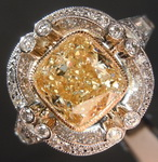 2.00ct W-X VS2 Cushion Cut Diamond Ring R8219