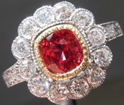 1.01ct Cushion Cut Ruby Ring R8337