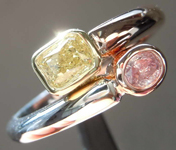 0.54ctw Pink and Yellow Diamond Ring R8340