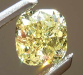 0.50ct Fancy Yellow SI1 Cushion Cut Diamond R8349