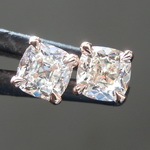SOLD...0.64ctw H VS1-SI1 Old Mine Brilliant Diamond Earrings R8417