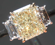 2.10ct W-X VVS2 Radiant Cut Diamond Ring R8423