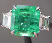 2.21ct Emerald Cut Emerald Ring R8454