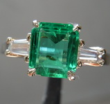 SOLD.....1.38ct Emerald Cut Emerald Ring R8456
