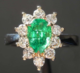 SOLD....0.75ct Pear Mixed Cut Emerald Ring R8457