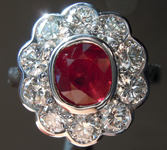 1.10ct Cushion Cut Ruby Ring R8555