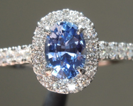 0.79ct Blue Oval Shape Sapphire Ring R8589