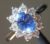 0.84ct Blue Oval Shape Sapphire Ring R8590