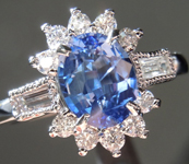 1.26ct Blue Oval Shape Sapphire Ring R8594