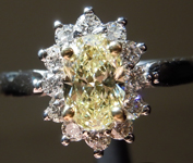 SOLD...0.60ct Yellow VS1 Oval Shape Diamond Ring R8664