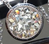 0.78ct I VS1 Old European Cut Diamond Pendant R8680