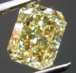 SOLD.....2.22ct Intense Yellow VS1 Radiant Cut Diamond R8721