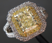SOLD....2.02ct U-V VS2 Radiant Cut Diamond Ring R8738