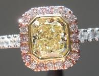 1.00ct W-X VVS2 Radiant Cut Diamond Ring R8739