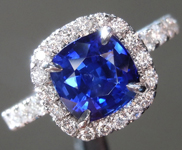 SOLD....2.16ct Blue Cushion Cut Sapphire Ring R8757