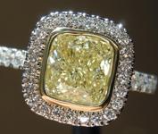 1.50ct W-X SI1 Cushion Cut Diamond Ring R8886