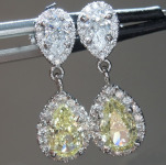2.02ctw Yellow Pear Shape Diamond Earrings R8894
