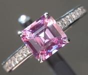 1.17ct Pink Purple Asscher Cut Sapphire Ring R9023