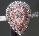 0.40ct Pink SI2 Pear Shape Diamond Ring R9360