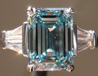 SOLD.....2.71ct Intense Blue VS2 Emerald Cut Lab Grown Diamond R9405