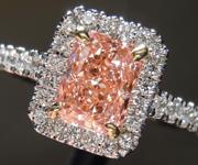 1.07ct Orangy Pink SI1 Radiant Cut Lab Grown Diamond Ring R9423