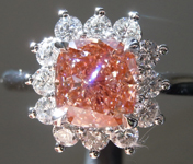 1.51ct Intense Pink SI1 Cushion Cut Lab Grown Diamond Ring R9426