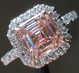 1.56ct Pink VS2 Asscher Cut Lab Grown Diamond Ring R9428
