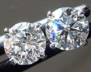1.07ctw D VS Round Brilliant Lab Grown Diamond Earrings R9720