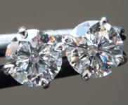 1.17ctw D VS Round Brilliant Lab Grown Diamond Earrings R9721