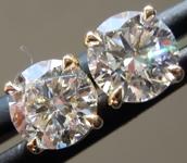 1.13ctw D VS Round Brilliant Lab Grown Diamond Earrings R9723
