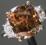 4.22ct Orangy Brown Cut Diamond Ring R7158