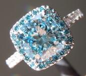 2.01ct Blue VS2 Cushion Cut Lab Grown Diamond Ring R9351