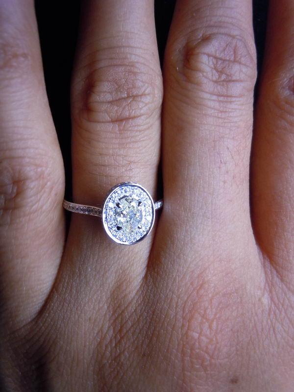 halo diamond ring