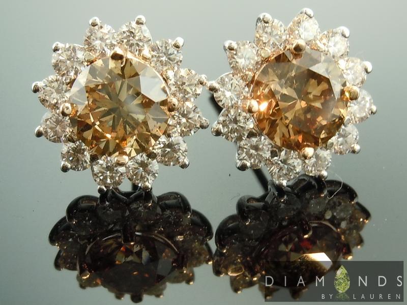 radiant cut diamond earrings