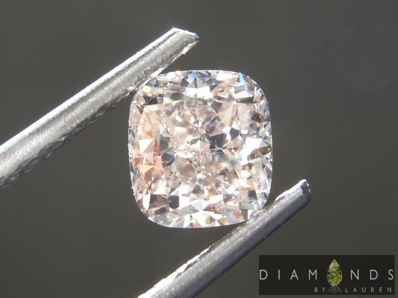 brown cushion cut diamond