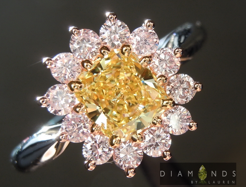 pink lemonade diamond ring