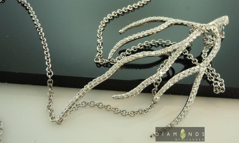colorless diamond pendant