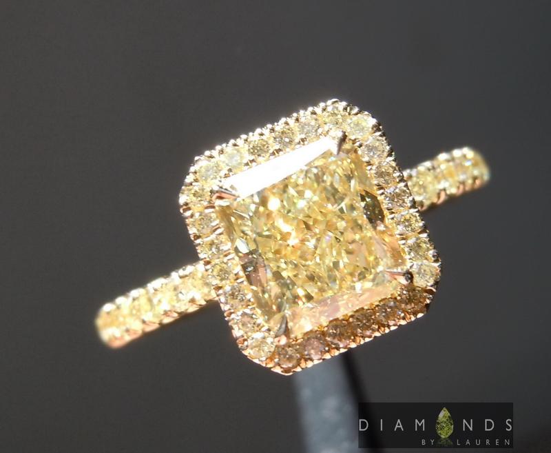 light yellow diamond ring