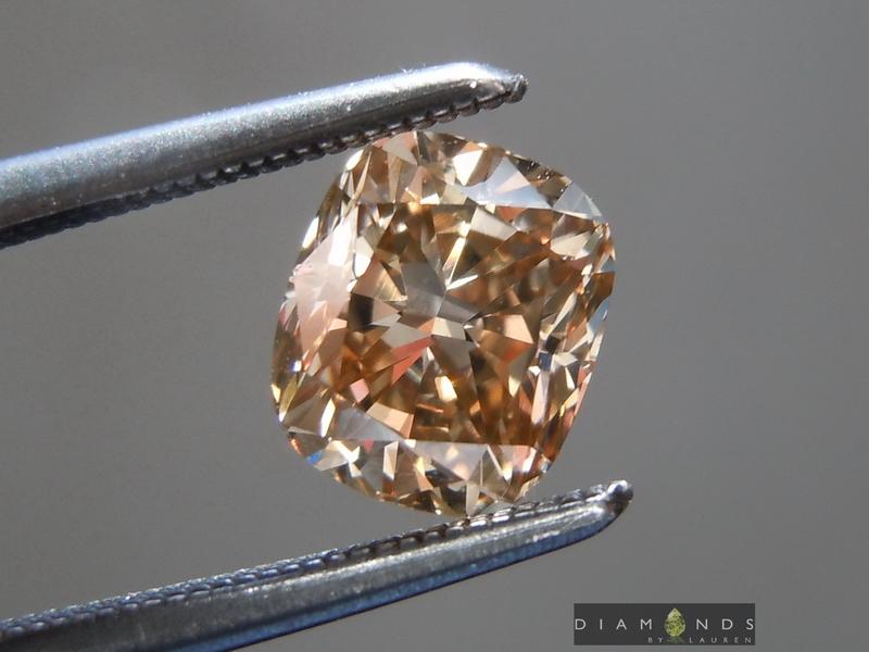 brown cushion diamond