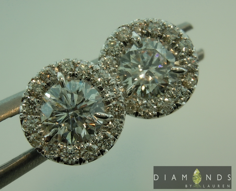 completely colorless diamond earrings