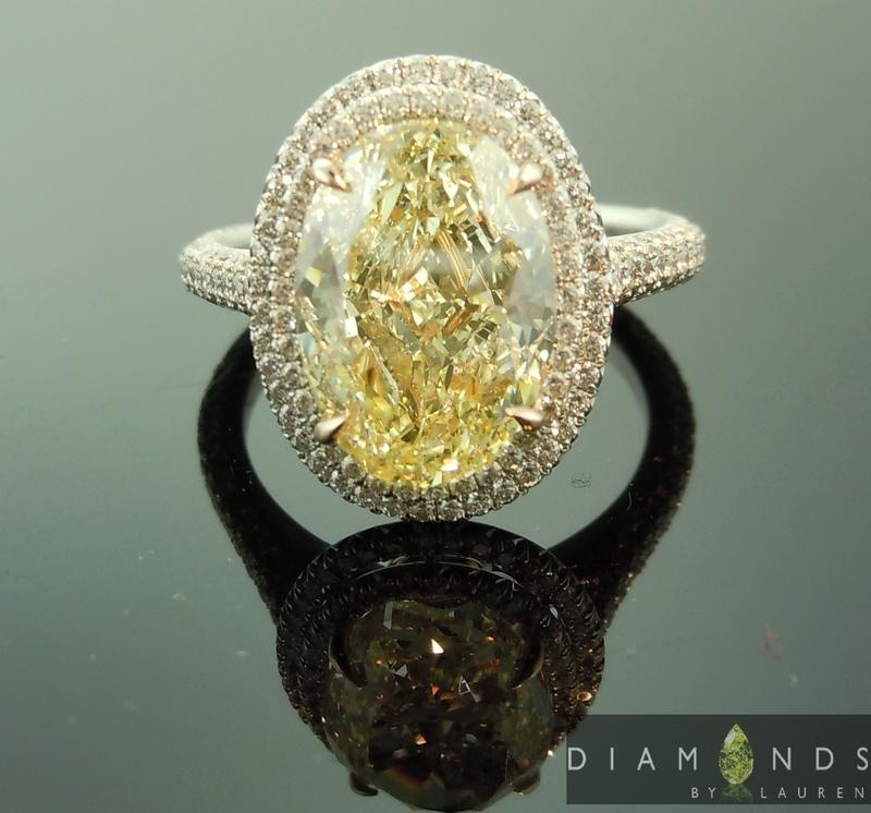 gia fancy yellow diamond ring