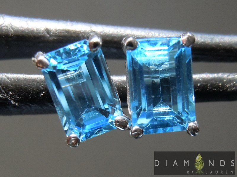 oval topaz earrings