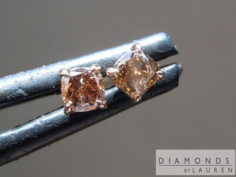 chocolate diamond earring