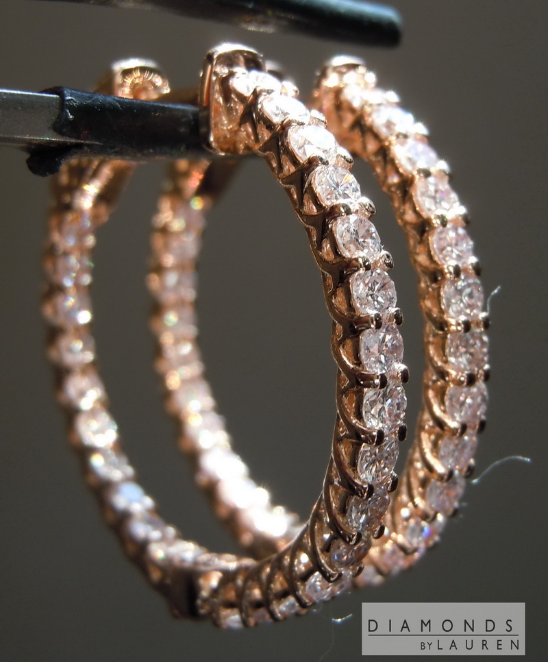 pink diamond earrings