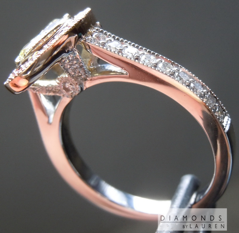 pink halo ring