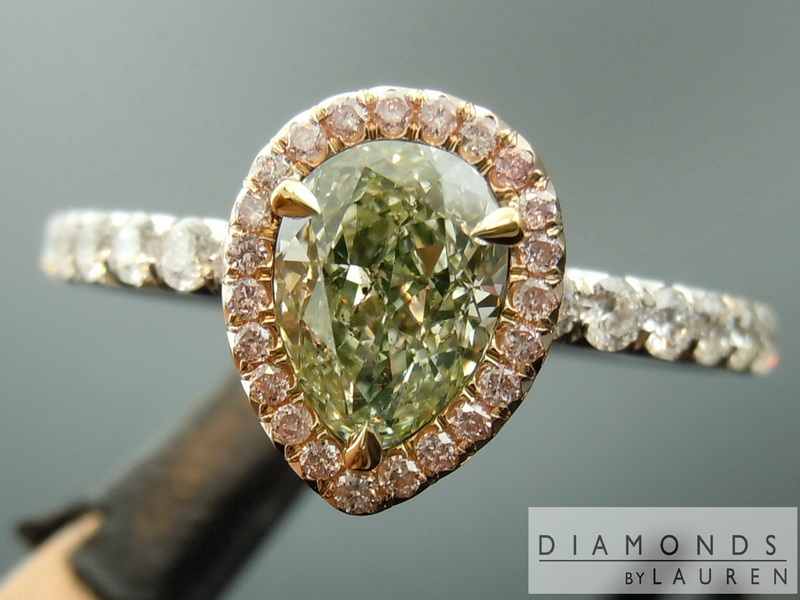 natural green diamond ring