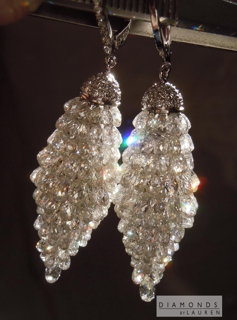 briolette diamond earrings