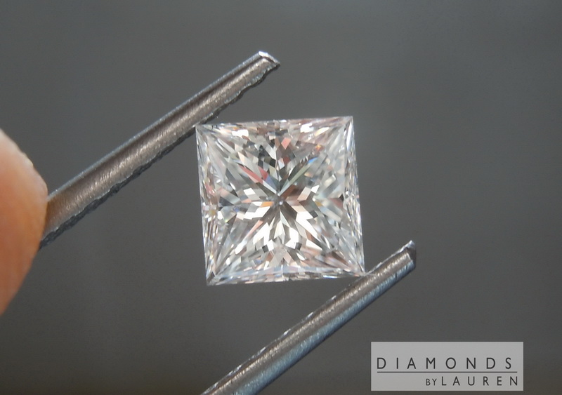 colorless princess cut diamond